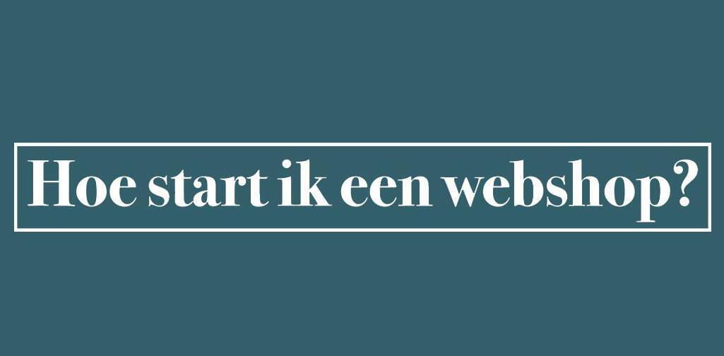 start een webshop